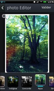 Aviary : filtre aqua pour embellir votre photo
