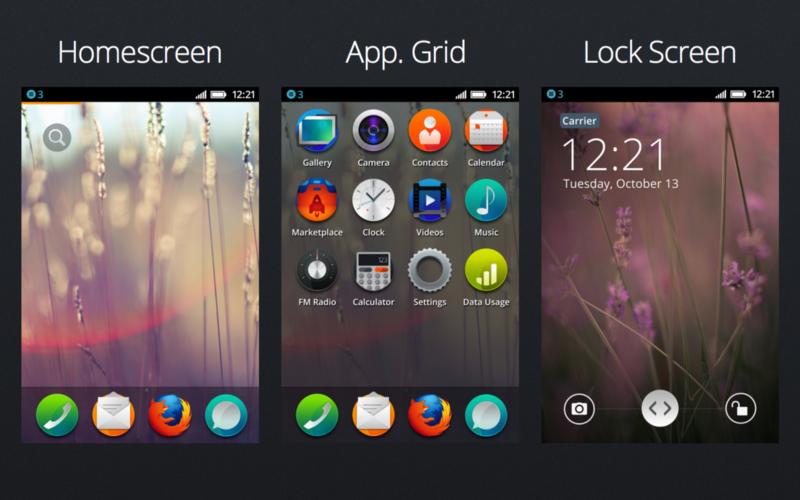 Concepts de design pour Firefox OS 1.0
