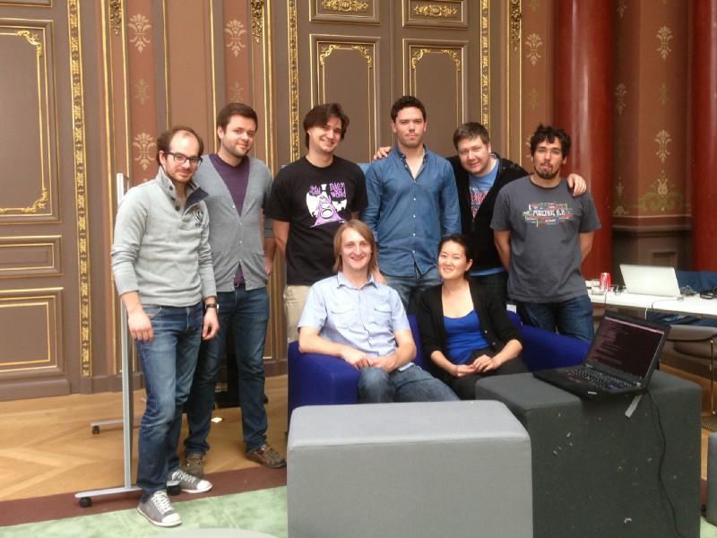 Réunion de l'équipe d'Haida, Paris, juin 2013