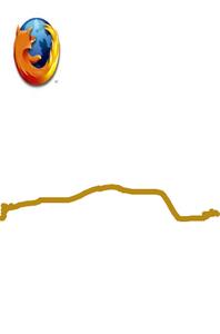 Draw appdujour logo Firefox + trait
