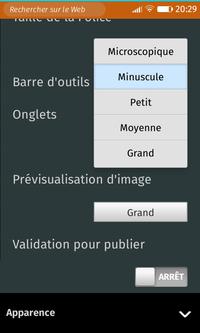 Macaw > Préférences > Sous-menu