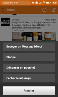 Macaw > Tweet > Détails > Menu