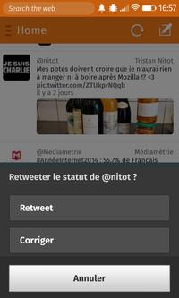 Macaw > Tweet > Détails > Retweeter