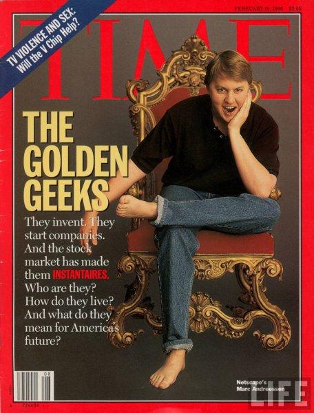 Marc Andreessen en couverture du magazine Time en 1996