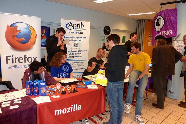 Stand Mozilla-April aux JDLL 2015