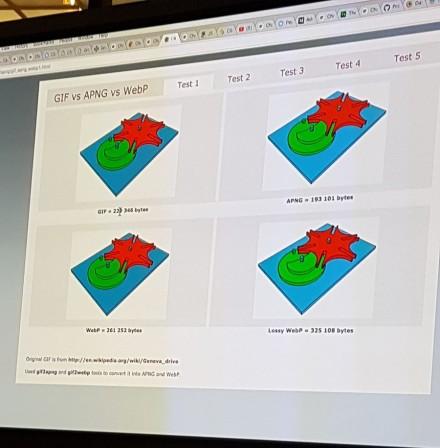 GIF vs APNG vs WebP par Google