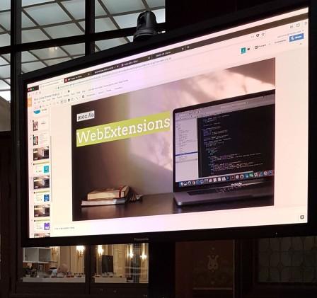 WebExtensions à l'écran
