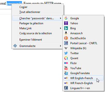 Context Search dans Firefox