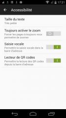 Firefox 48 : Paramètres > Accessibilité
