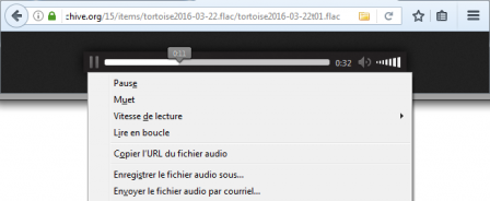 Lecteur FLAC de Firefox 51
