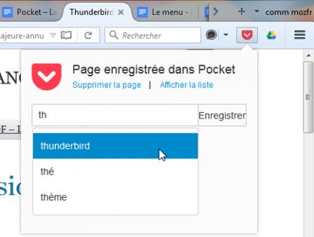 Ajouter à Pocket dans Firefox pour ordinateur