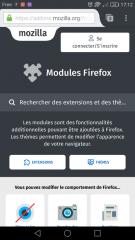 Firefox pour Android : page d'accueil pour mobiles d'AMO