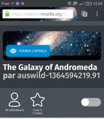 Firefox pour Android : thème Galaxy of Andromeda