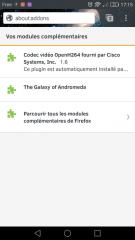 Firefox pour Android : Vos modules complémentaires avec thème