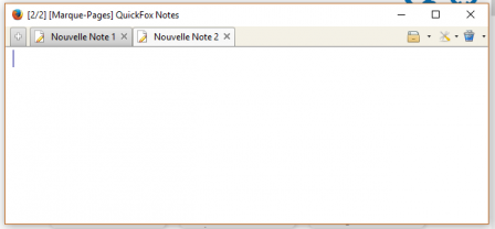 QuickFox : nouvelle note
