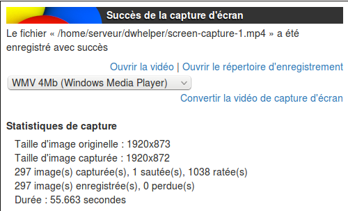 video DownloadHelper séquence de fin