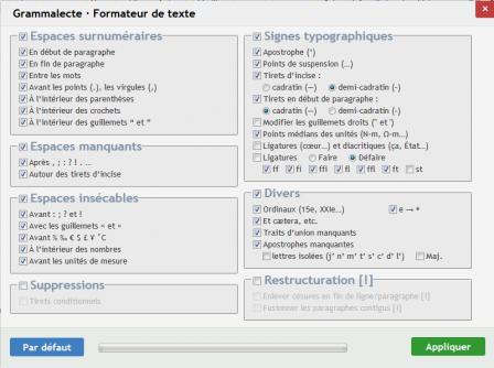 Grammalecte pour Firefox : formateur de texte