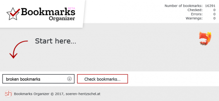 Bookmarks Organizer : Start here…