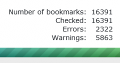 Bookmarks Organizer : number of bookmarks = checked