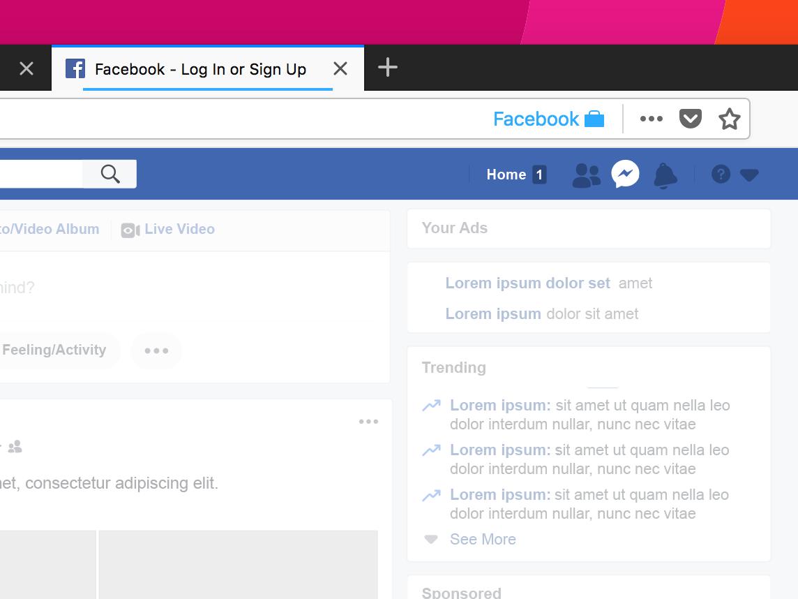facebook container une extension pour garder le contr le. Black Bedroom Furniture Sets. Home Design Ideas