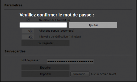 LaPoste Notifier : exportation