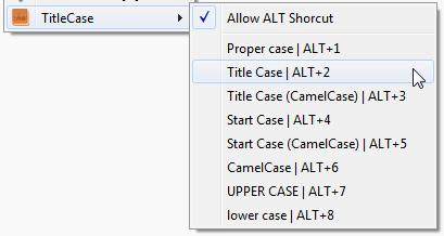 titleCase ! menu contextuel