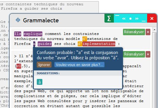 Grammalecte : correction grammaticale