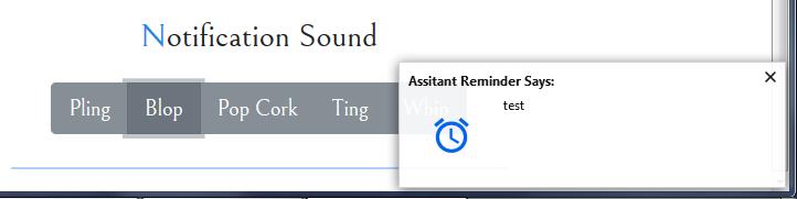 Assistant Reminder : notification système