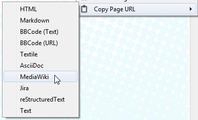 Copy URL To Clipboard : menu contextuel