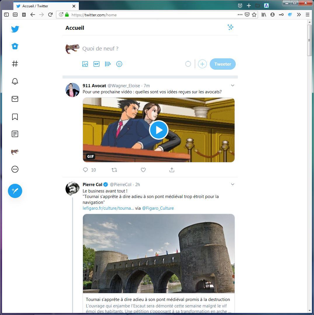 Nouveau Twitter avec Minimal Twitter