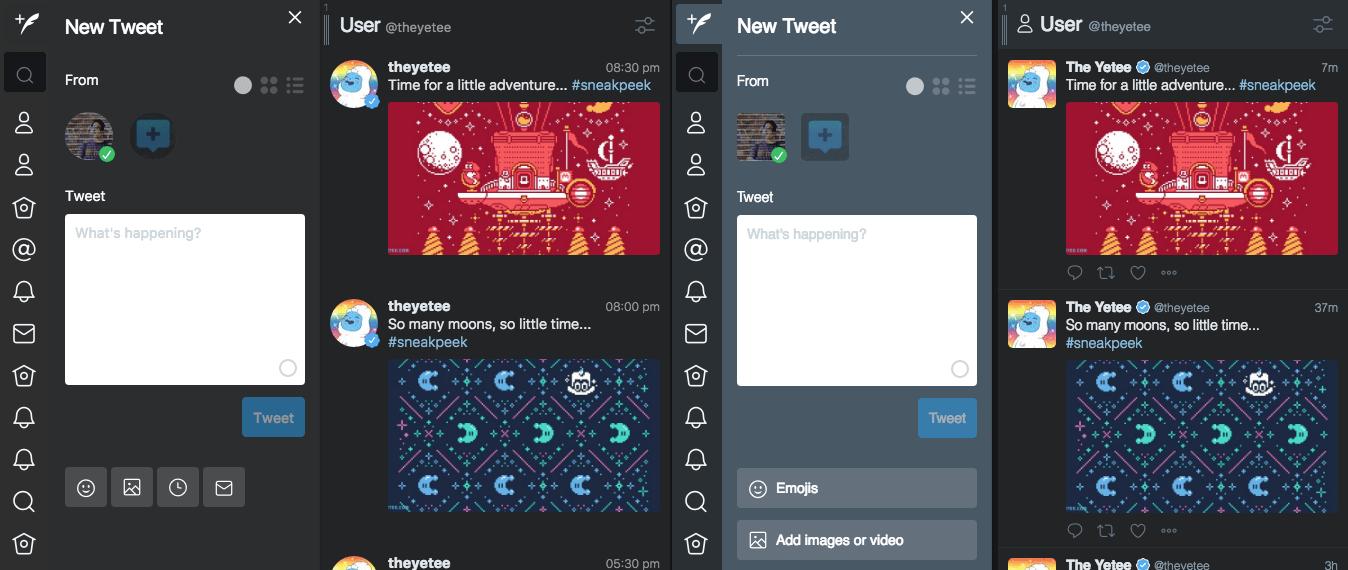 Tweetdeck Better avant et après