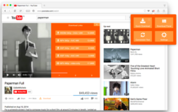YouTube Video and Audio Downloader affiche des commandes intuitives