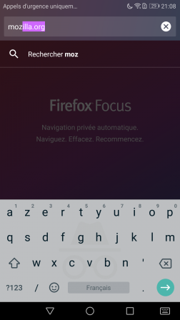 Firefox Focus pour Android 2.0 : clavier Gboard avec mode incognito