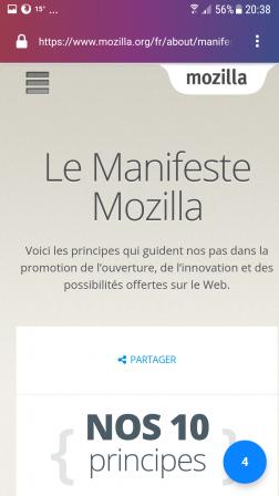 Firefox Focus pour Android 2.0 : onglets comptés sur le bouton bleu