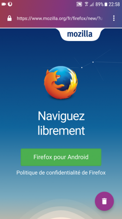 Firefox Focus pour Android : Firefox pour Android