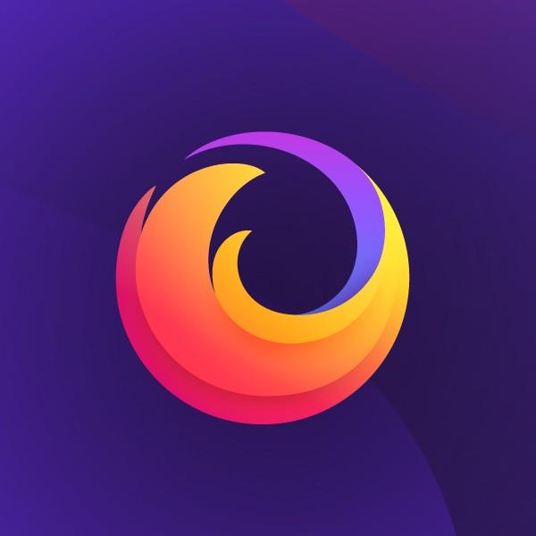 Nouveau logo de la gamme Firefox sur fond violet