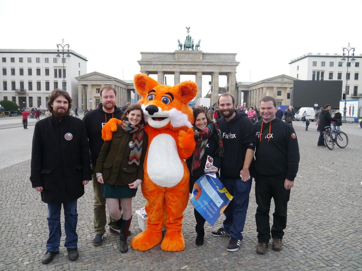 Foxy a la porte de Brandebourg