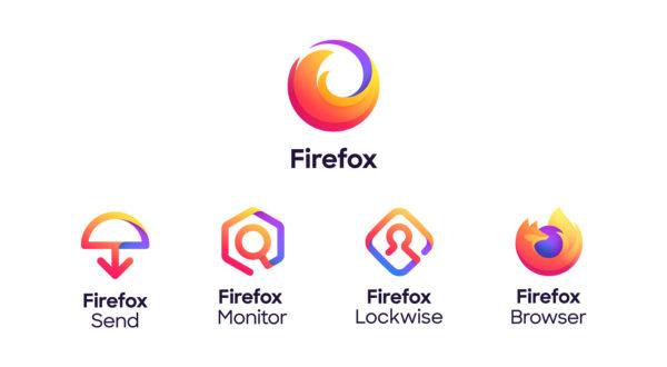 Logos de la gamme Firefox