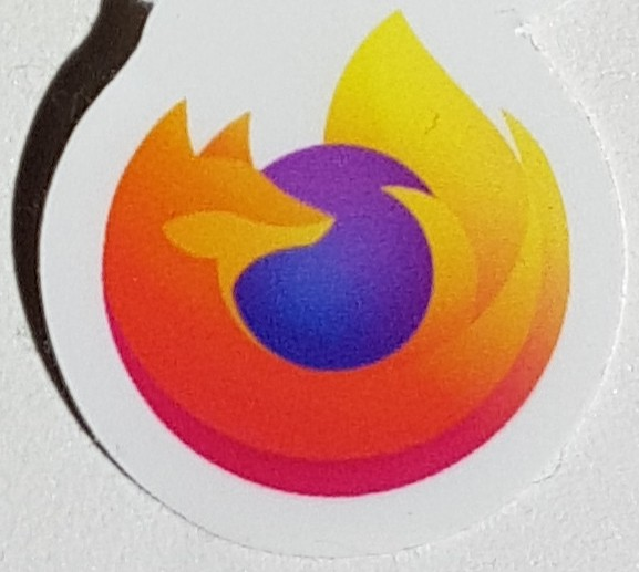 Autocollant logo de Firefox 2019