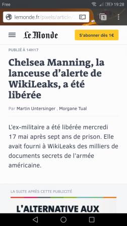 Firefox pour Android : Le Monde