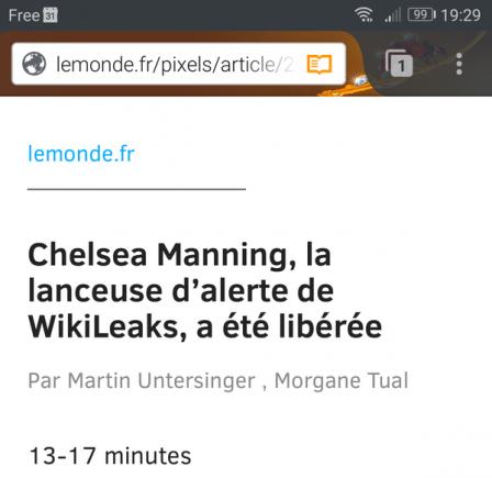 Firefox pour Android : mode lecture : temps de lecture estimé