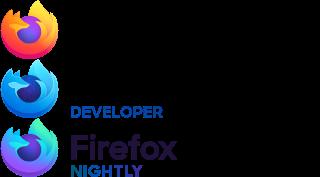 Firefox 2019 : logos et textes