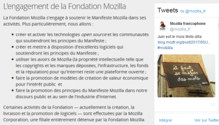 L'engagement de fondation Mozilla