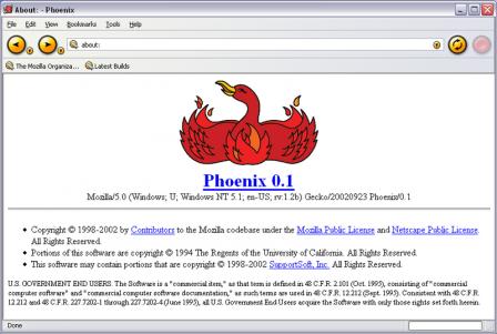 2002 : Phoenix 0.1