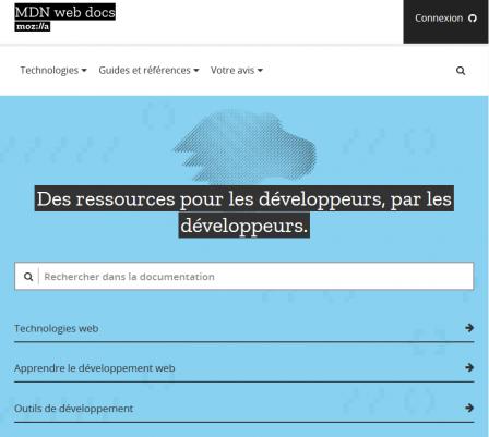 page MDN Web Docs