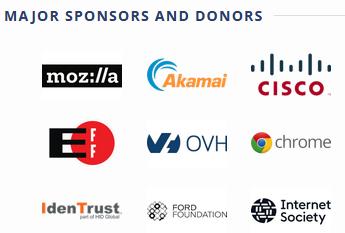 Des sponsors de Let's Encrypt
