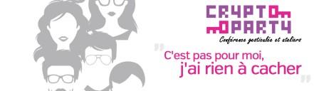 Crypto Rennes 2017 : bandeau Rien à cacher