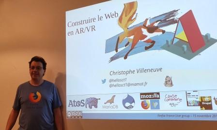 Christophe Villeneuve parle le Web en AR VR