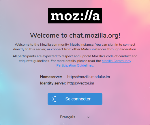 Welcome to chat.mozilla.org!