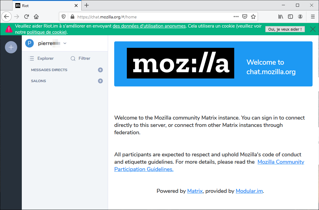 Welcome to chat.mozilla.org